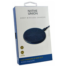 Genuine Native Union Drop Wireless Qi Fast Rapid iPhone/iPad Fabric Charging Pad