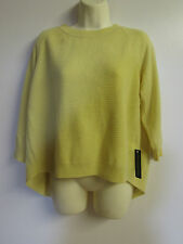 Femmes ex high street cashmere jumper UK14 gold rush jaune T62/6425