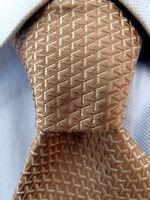 Men's BCBG Attitude Brown Silk Tie Hand Made A25890