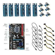 6 GPU Mining Placas Base + 6 PCI-E Canalización Vertical Extensor Tarjeta PARA