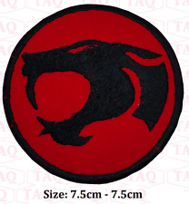 Thundercat Cartoon Logo badge black leopered Embroidered Iron/Sew-on Patch