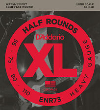 D'Addario ENR73 Half Round Bass Guitar Strings, Heavy, 55-110, Long Scale