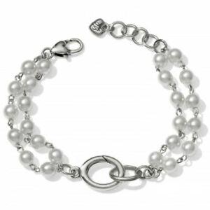 "Brighton ""VICTORIA"" Pearl Charm Bracelet (MSR$42) NWT/Pouch"