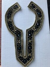 Embroidered Jewels Beaded Design Around the Neck for Blouse Sweater Dress NWOT