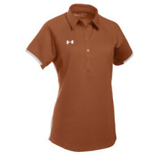 Under Armour Women's Rival Polo Small Texas Orange