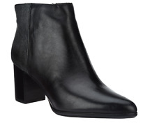 Rockport Total Motion Leather Ankle Booties - Lynix Black Boots Womens 9.5W New