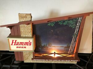 RARE 1960s Hamms Beer Lighted Sign; Excellent Working Condition