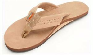 Woman Rainbow Premier Leather Single Layer Arch Sandal 301ALTS Sierra Brand New