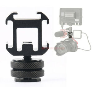 Three Head Extend Port Connect Microphone Use On Camera Mount Hot Shoe Connector