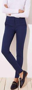 Ann Taylor LOFT Petal Skinny Ankle Pants in Marisa Fit Size 0P, 2P Empire Blue