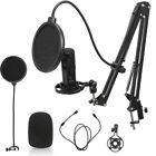 Kondensatormikrofon Audio Microphone Podcast Set USB Mikrofon Densatormikrofon