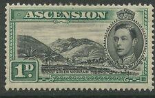 Ascension Island SG39 1938 1d. black & green P13