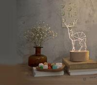 Creative LED Height 20cm Deer Decoration Beech+Resin Table Light/Lamp #