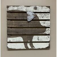 New Primitive Country Farmhouse PIG WOODEN PALLET SIGN Wall Hanging Picture