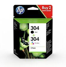 Original HP 304 Black & Colour Ink Cartridge For Deskjet 2620 Inkjet Printer