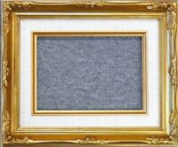 8x10 Classic Gold Leaf Ornate Art Photo Picture Frame Linen Liner B8G
