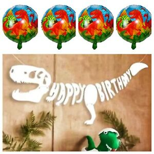 3D Dinosaur Happy Birthday Banner And Balloons Decorations PREMIUM T Rex Pack
