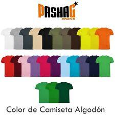 Camiseta basica 100% algodon 150 gr alta calidad color y talla a elegir