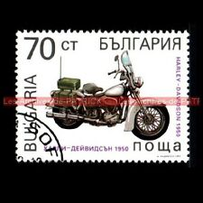 HARLEY DAVIDSON Hydra Glide Police 1950 - BULGARIA BULGARIE Moto Timbre Poste
