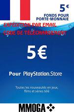 Pour €5 EUR Carte PlayStation Network - 5 EURO Code Jeu - Compte français - FR