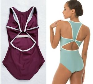 "YUMIKO ""ALEX"" DANCEWEAR BALLET YOGA PILATES ONE PIECE LEOTARD BODYSUIT TOP L"