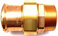 """Pegler Yorkshire Xpress Straight Male Union Connector Press Fit BSP 42mm 1 1/2"""""""
