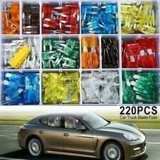 220pc Mini & Standard Blade Fuse Assortment Auto Car Truck FUSES Kit APM, ATM US