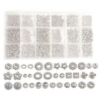 900PCS/Box 18 Styles Antiqued Silver Metal Spacer Beads for DIY Jewelry Making