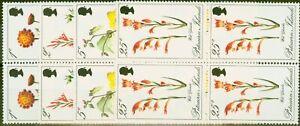 Pitcairn Islands 1970 Flowers set of 4 SG107-110 Superb MNH Blocks