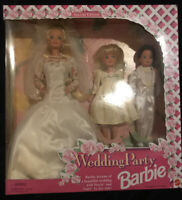 1994 Wedding Party Barbie With Stacie And Todd Set Brand New Never Been Opened