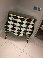 French Rocco gloss black chest of drawers
