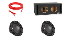 (2) Polk Audio DB 842 DVC (DB842DVC) + Atrend Vented Box & FREE Speaker Wire!