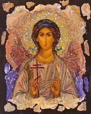 "Archangel Michael 6""x 5"", Saint, Unique Gift, Original, Hand made, Antanenka"