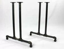 """Black Pipe Table Legs """"DIY"""" Parts Kit, 3/4"""" Pipe x 40"""" tall x 22"""" wide"""