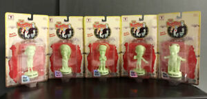 MUNSTERS LITTLE BIG HEADS COMPLETE SET (5) GLOW-IN-THE-DARK SIDESHOW 1999