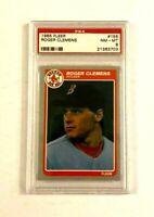 1985 Fleer Roger Clemens RC #155 PSA 8 NM-MT 21363703 - Boston Red Sox