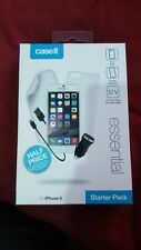 Caseit Hard shell Case,car charger,screen/p Apple iPhone 6 /6S FULL STARTER PACK