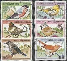 Timbres Oiseaux Bénin 756/61 o lot 20210