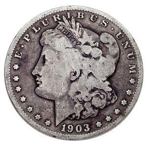 1903-S Silver Morgan Dollar $1 Coin (Good, G Condition)