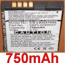 Battery 750mAh Type SBPL0089503 for LG KG270