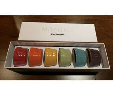 LE CREUSET  RAINBOW METALLICS  Stoneware  MINI RAMEKINS  Set Of 6   3.4 oz  NIB!