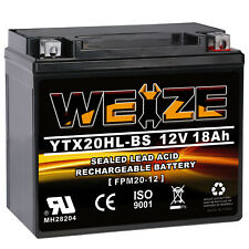 Weize YTX20HL-BS High Performance Maintenance Free Sealed AGM Motorcycle Battery