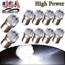 10x Pure White 1156 BA15S 9-LED RV Camper Trailer Backup Reverse Light Bulbs