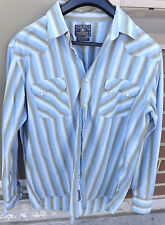 LUCKY BRAND DUNGAREES AMERICA Mens Pearl Snap Western Shirt Size XL 100% Cotton