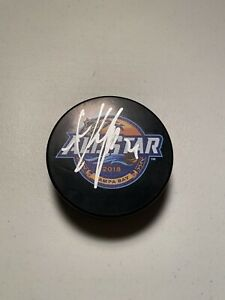 Anze Kopitar Signed Autographed 2018 NHLAll Star Game Puck Los Angeles Kings
