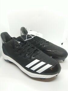 Adidas Icon Bounce ⚡ TPU Molded Baseball Cleats Black AQ0154 Men's Size 12
