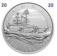 🇨🇦 New Canada Pure Silver 5 Dollars Coin $5, Hudson's Bay Company, UNC, 2020