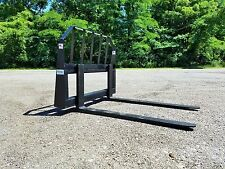 "48"" Pallet Forks skid steer quick attach, powder coated, Free Shipping"