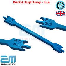 Dental Bracket Height Gauge Blue Color Braces Positioning Measuring Ortho Tools