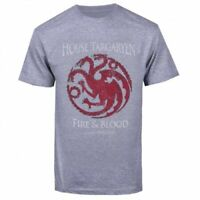 "Game Of Thrones TARGARYEN SIGIL FIRE & BLOOD ""DRAGON"" T-Shirt NWT Licensed"